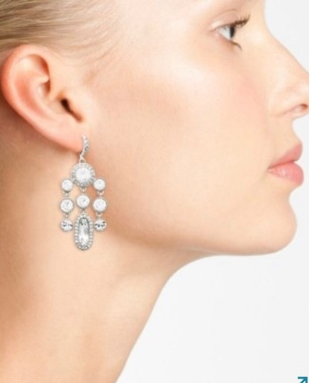 Givenchy Silver Drama Crystal Chandelier Earrings Image 2