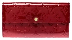Louis Vuitton Louis Vuitton Pomme D'amour Monogram Vernis Sarah Continental Wallet