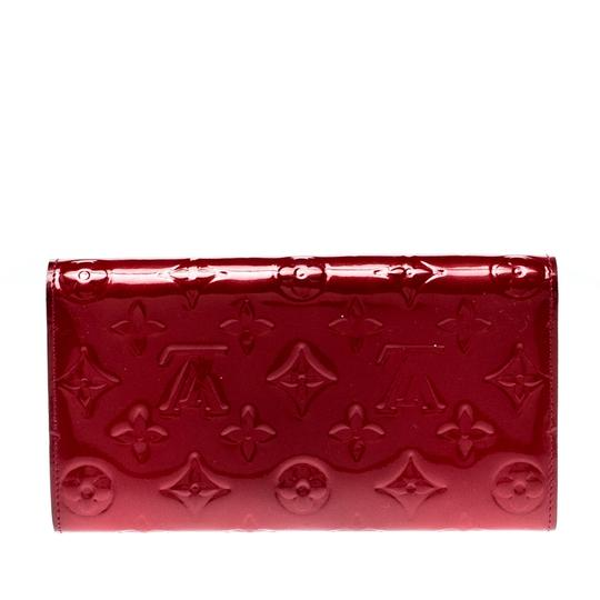 Louis Vuitton Louis Vuitton Pomme D'amour Monogram Vernis Sarah Continental Wallet Image 1