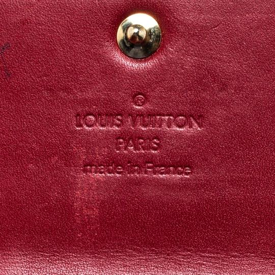 Louis Vuitton Louis Vuitton Pomme D'amour Monogram Vernis Sarah Continental Wallet Image 9