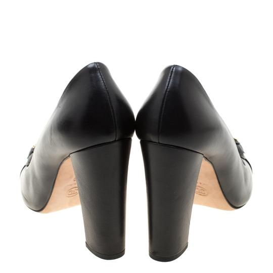 Chanel Leather Black Pumps Image 2