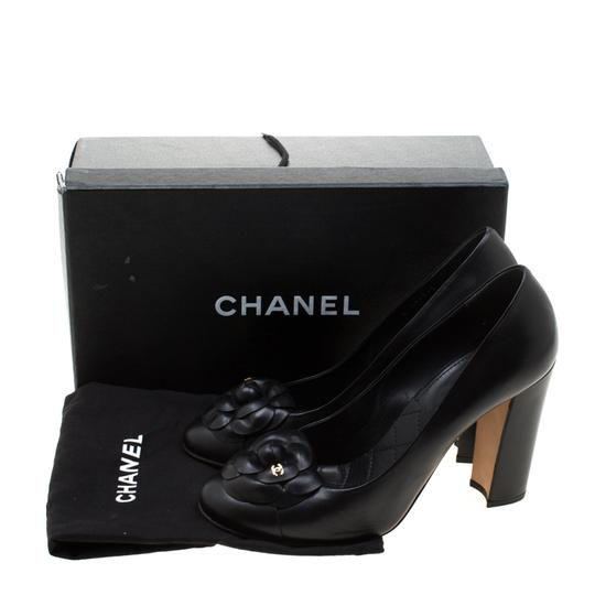 Chanel Leather Black Pumps Image 5