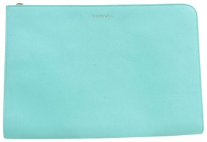 Tiffany & Co. Porte Document Folder Binder Blue Clutch
