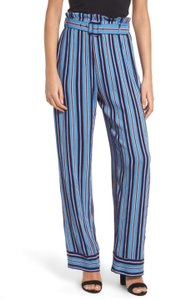 Band of Gypsies Size Paper Bag Blake Stripe Lightweight Relaxed Pants Blue Multi