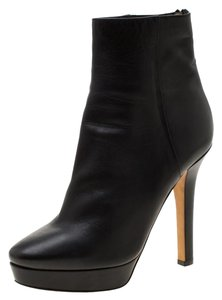 Gucci Leather Platform Ankle Black Boots