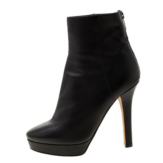 Gucci Leather Platform Ankle Black Boots Image 1