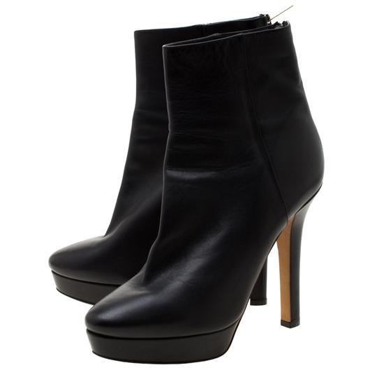 Gucci Leather Platform Ankle Black Boots Image 3