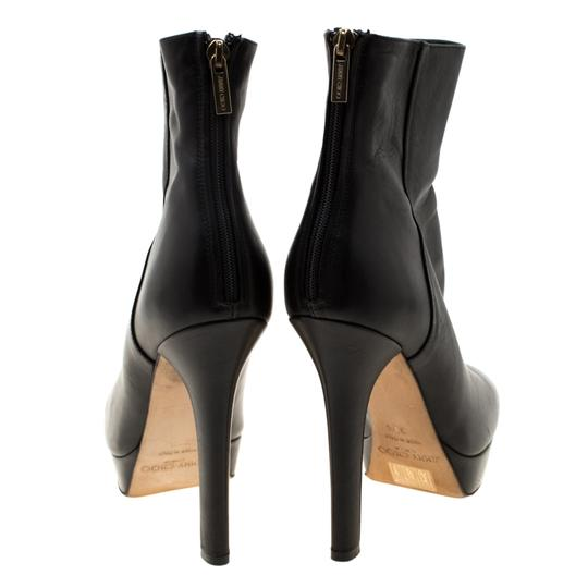 Gucci Leather Platform Ankle Black Boots Image 4