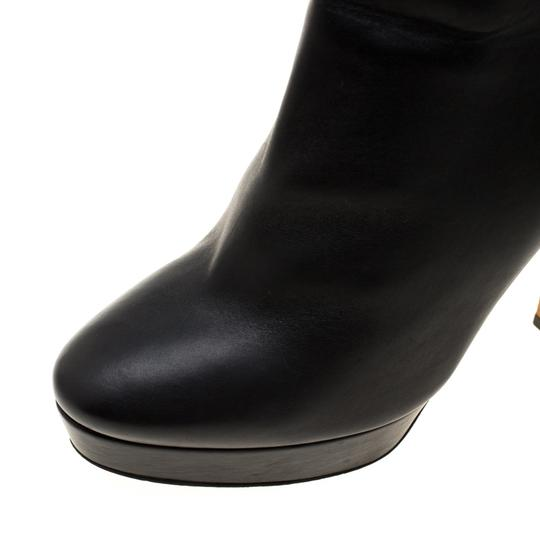 Gucci Leather Platform Ankle Black Boots Image 6