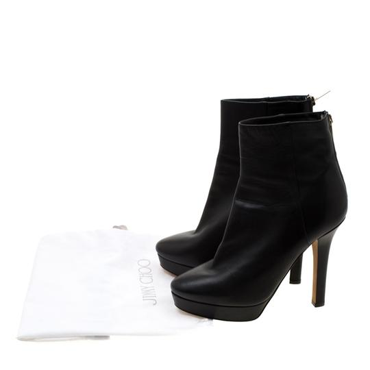Gucci Leather Platform Ankle Black Boots Image 7