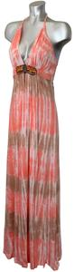 Pink/Coral/Brown/Tan Maxi Dress by Sky