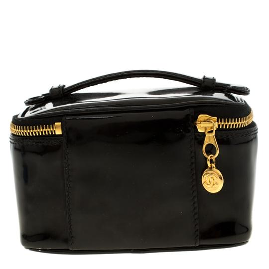 Chanel Patent Leather Black Clutch Image 1