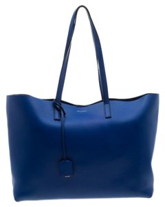 Saint Laurent Paris Leather Tote in Blue