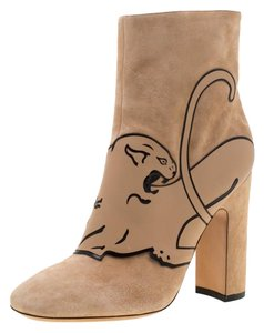 Valentino Suede Ankle Beige Boots