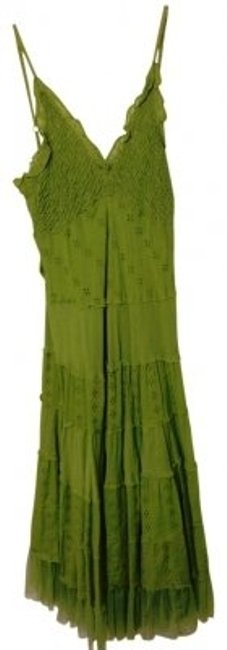Preload https://img-static.tradesy.com/item/25964/connected-apparel-green-spaghetti-strap-eyelet-sundress-with-ruffle-knee-length-short-casual-dress-s-0-0-650-650.jpg