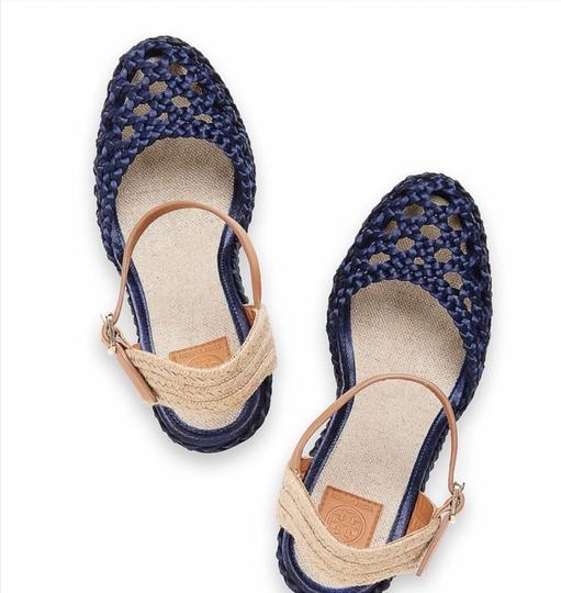 Tory Burch Blue Wedges Image 2
