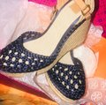 Tory Burch Blue Wedges Image 4