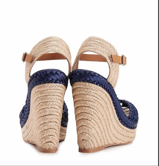 Tory Burch Blue Wedges Image 5