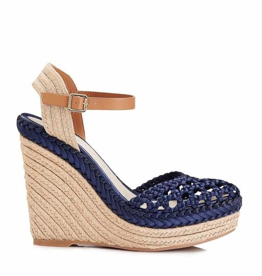 Tory Burch Blue Wedges Image 6