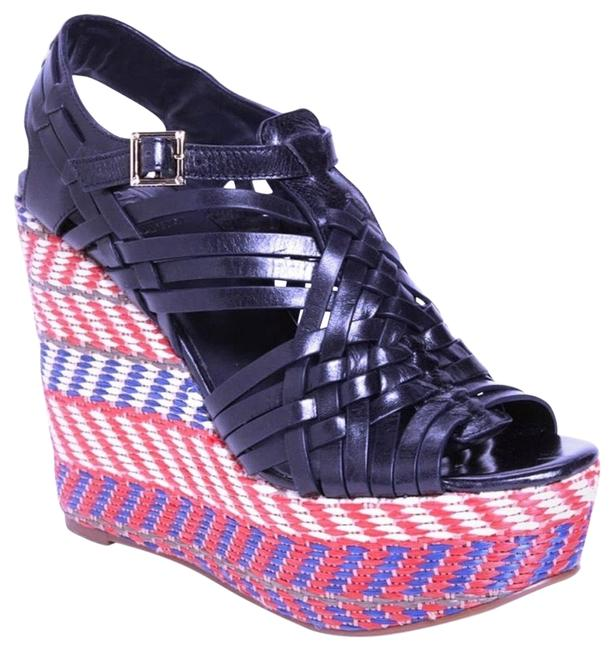Item - Blue and Red Raven Wedges Size EU 40 (Approx. US 10) Regular (M, B)