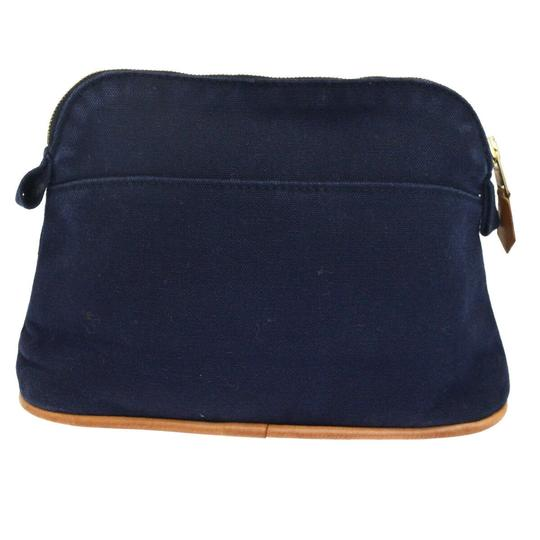 Preload https://img-static.tradesy.com/item/25964191/hermes-navy-blue-bolide-logos-mm-pouch-cotton-leather-cosmetic-bag-0-0-540-540.jpg