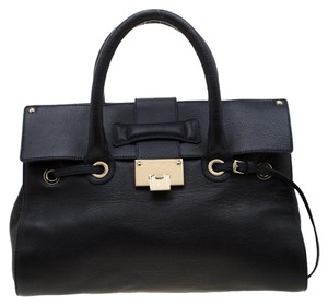 Jimmy Choo Suede Leather Navy Blue Clutch