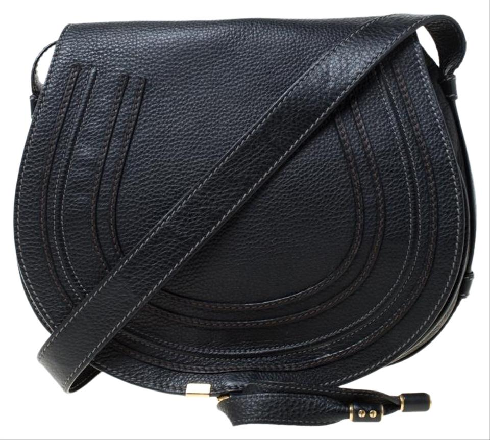 order online world-wide selection of new items Chloé Crossbody Marcie Medium Black Leather Shoulder Bag 33% off retail