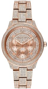 Michael Kors Women's Runway Pave Rose Gold Stainless Steel Watch 38mm MK6628