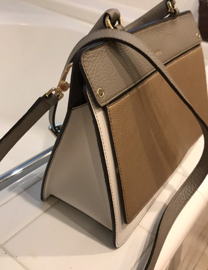 Furla off white, champagne and light gray Messenger Bag Image 2