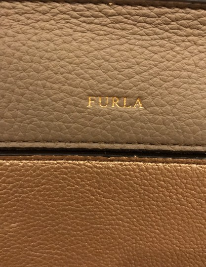 Furla off white, champagne and light gray Messenger Bag Image 7