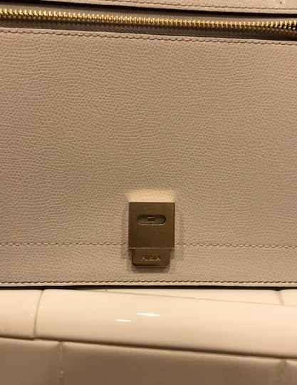 Furla off white, champagne and light gray Messenger Bag Image 9
