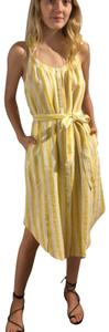 Trovata short dress Yellow and white stripes on Tradesy