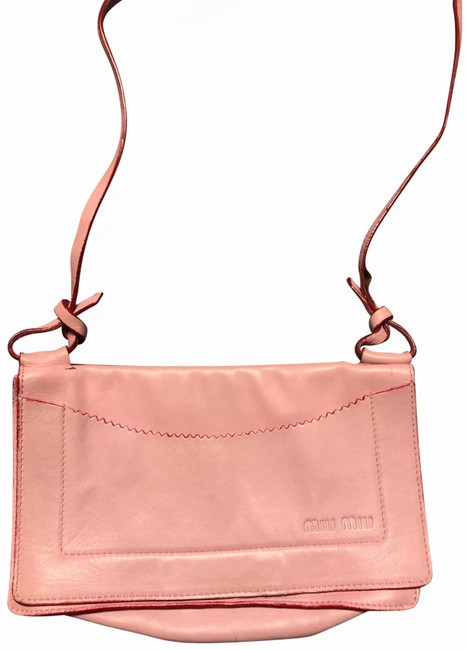 Item - Pink and Red Leather Cross Body Bag