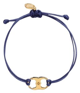 Tory Burch New Tory Burch Embrace Ambition Silk Gemini Bracelet NAVY - item med img