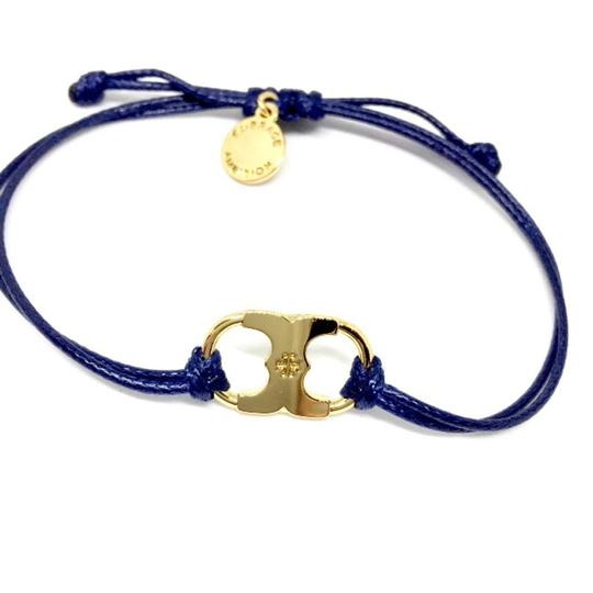 Tory Burch New Tory Burch Embrace Ambition Silk Gemini Bracelet NAVY Image 1