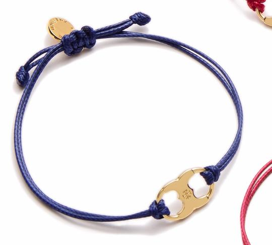 Tory Burch New Tory Burch Embrace Ambition Silk Gemini Bracelet NAVY Image 2