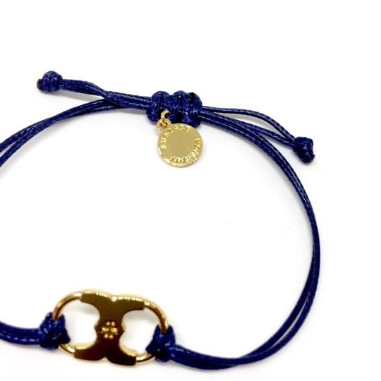 Tory Burch New Tory Burch Embrace Ambition Silk Gemini Bracelet NAVY Image 3