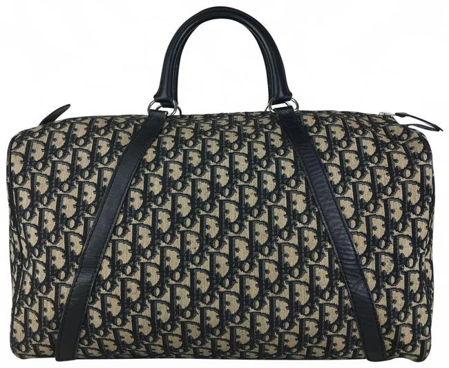 Item - Duffle Christian Navy Trotter Blue Canvas Weekend/Travel Bag