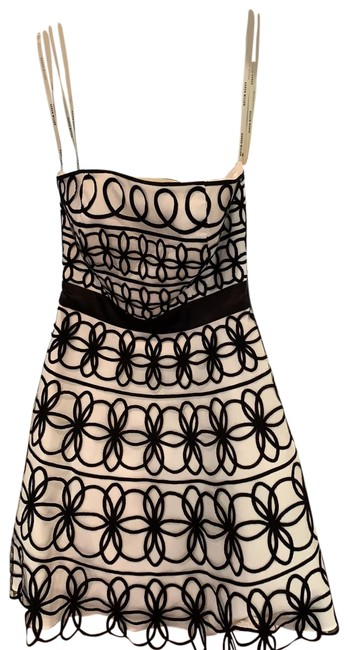 Item - White and Black Mid-length Cocktail Dress Size 4 (S)