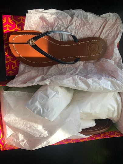 Tory Burch Navy Blue Sandals Image 4