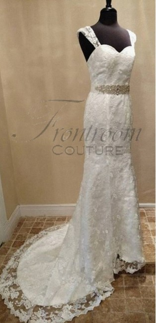 Frontroom Couture Ivory Bridgette-lace Sheathsweetheart Gown with Lace Straps Formal Wedding Dress Size 8 (M) Frontroom Couture Ivory Bridgette-lace Sheathsweetheart Gown with Lace Straps Formal Wedding Dress Size 8 (M) Image 1