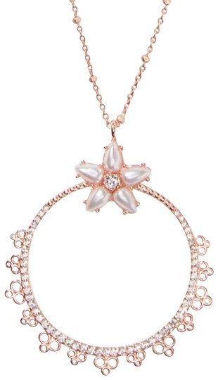 Preload https://img-static.tradesy.com/item/25965072/kate-spade-rose-gold-chantilly-o-charm-mini-pendant-necklace-0-1-540-540.jpg