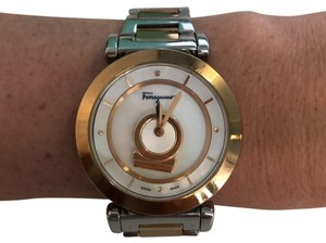 Salvatore Ferragamo Minuetto stainless steel & mother of pearl watch