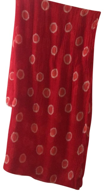 Item - Red Orange and White Scarf/Wrap