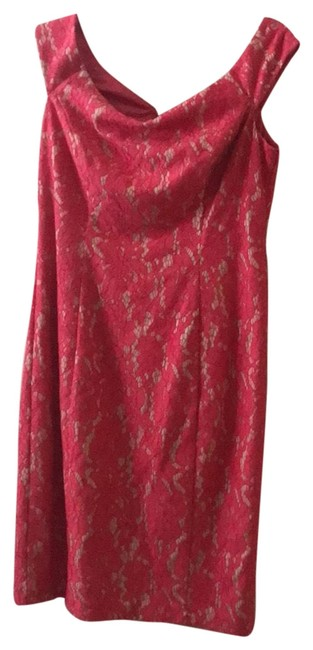 Item - Pink with Cream Short Night Out Dress Size 8 (M)