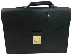 Louis Vuitton M54412 Serviette Ambassadeur Brief Case Lv Epi Leather Satchel in Black