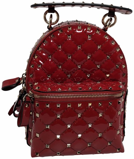 Preload https://img-static.tradesy.com/item/25965285/valentino-garavani-mini-rockstud-red-patent-leather-backpack-0-3-540-540.jpg