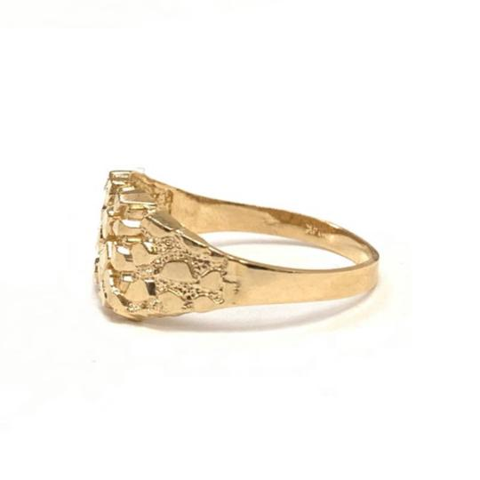 Other (2268) 14K Gold Fancy Rocky Ring Image 1