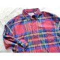 American Eagle Outfitters Button Down Shirt Red Blue Green Image 4
