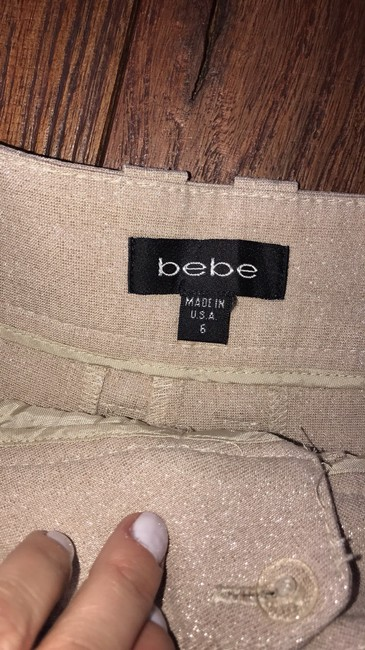 bebe Dress Shorts beige with streaks of gold Image 2